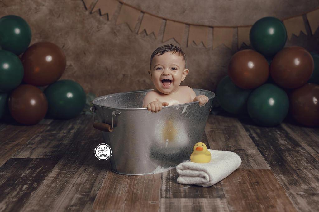 Patito de goma para baño - Barreño como bañera