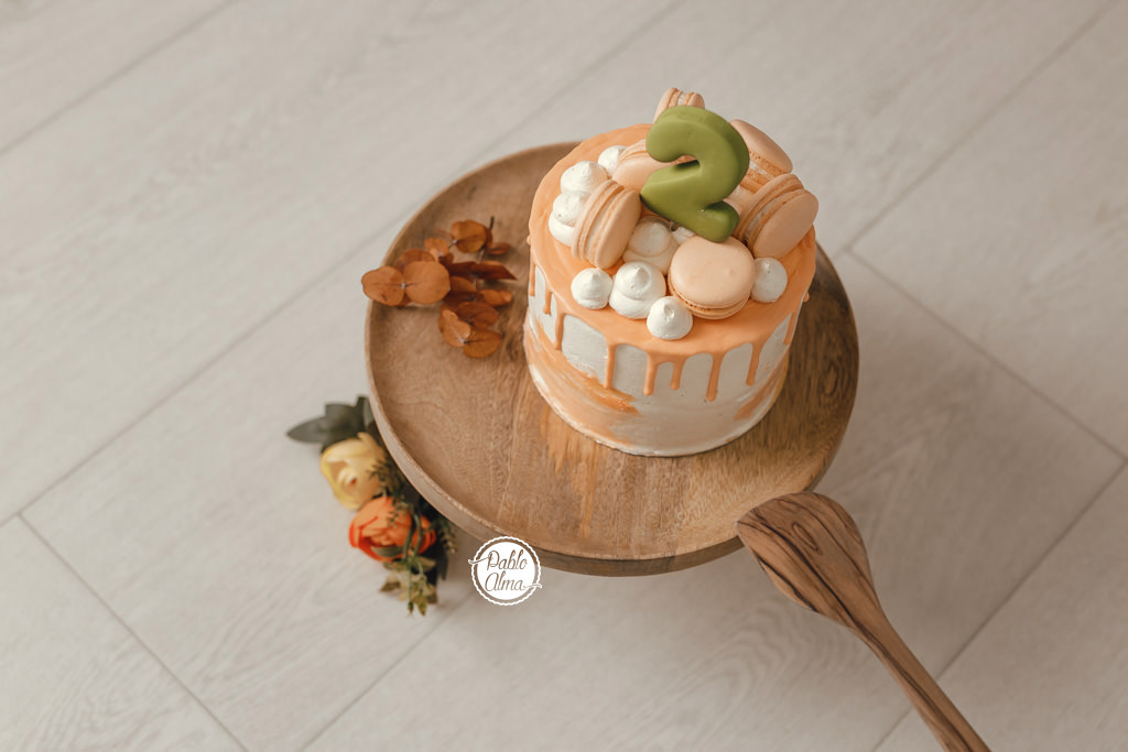 Tarta Otoñal para Smash Cake - Fotos Primer Cumple 2