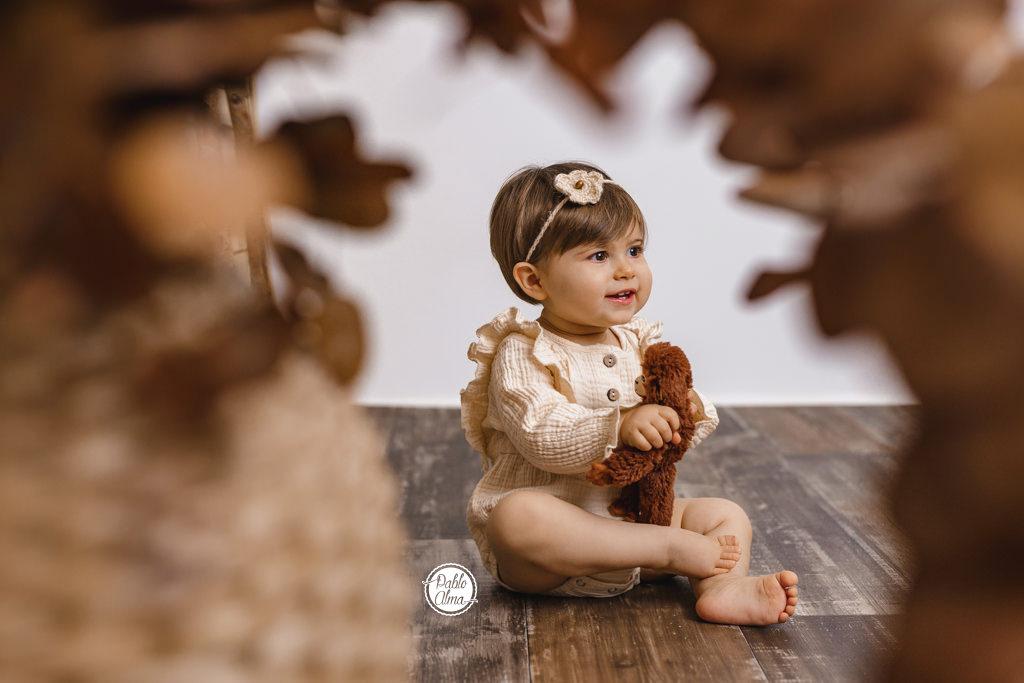 Bebé de meses en silloncito - Foto original