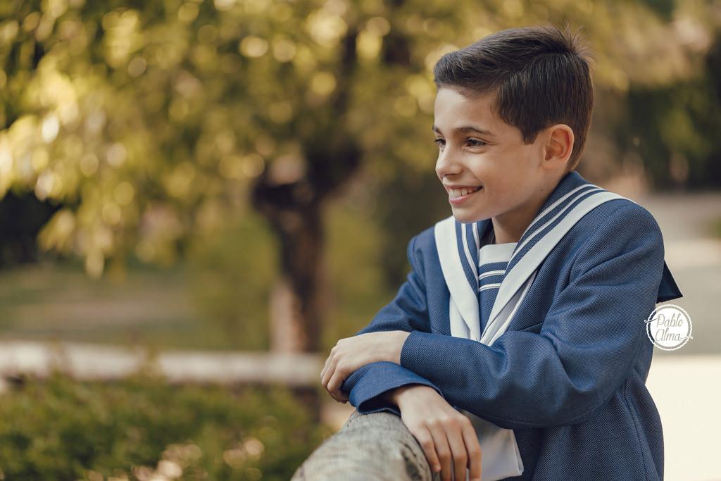 Foto de Comunión - Niño en Exterior