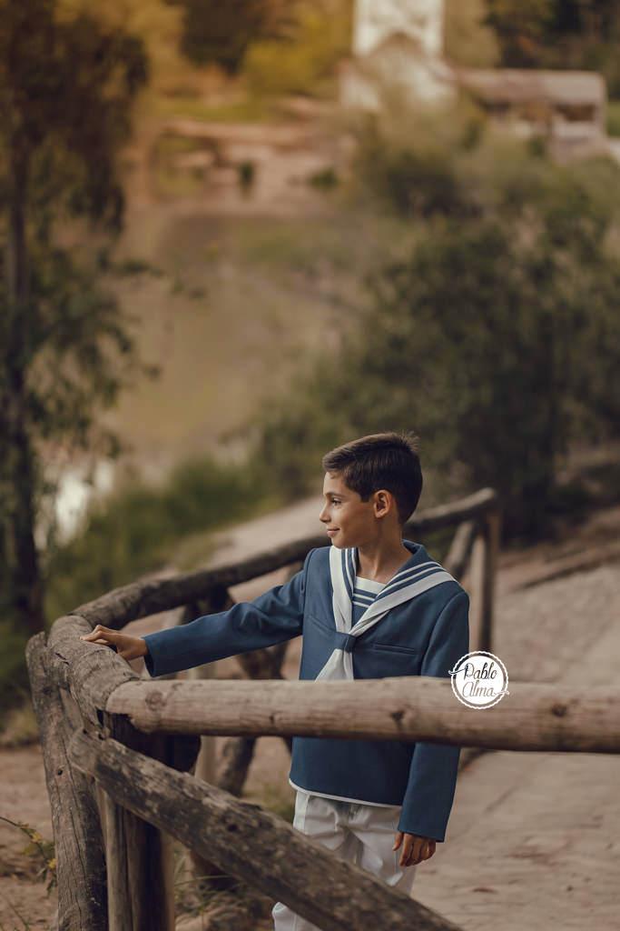 Foto de Comunión de Niño - Traje de Comunión Azul