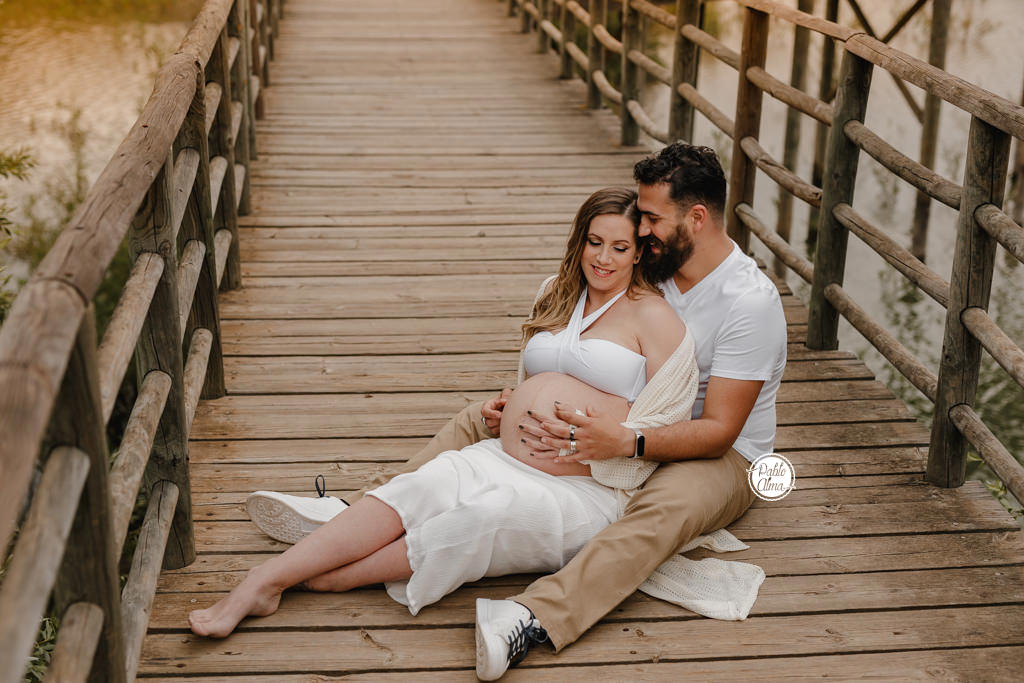 Fotos de Embarazo en Pareja Sevilla - Corredor Verde Naturaleza