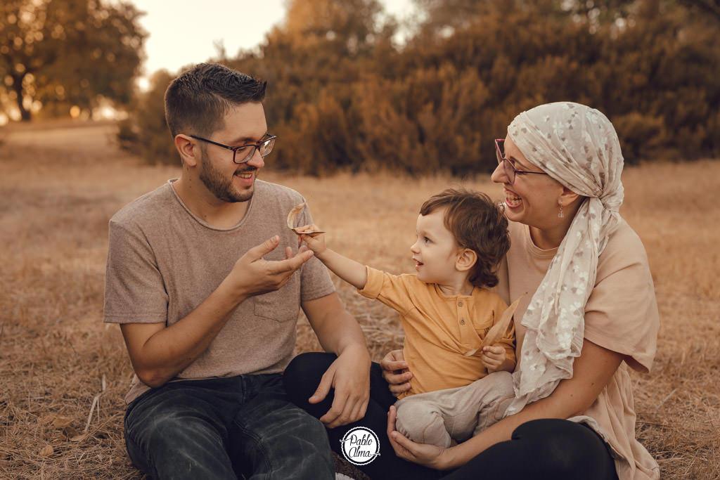 Foto de Familia en el Parque al atardecer