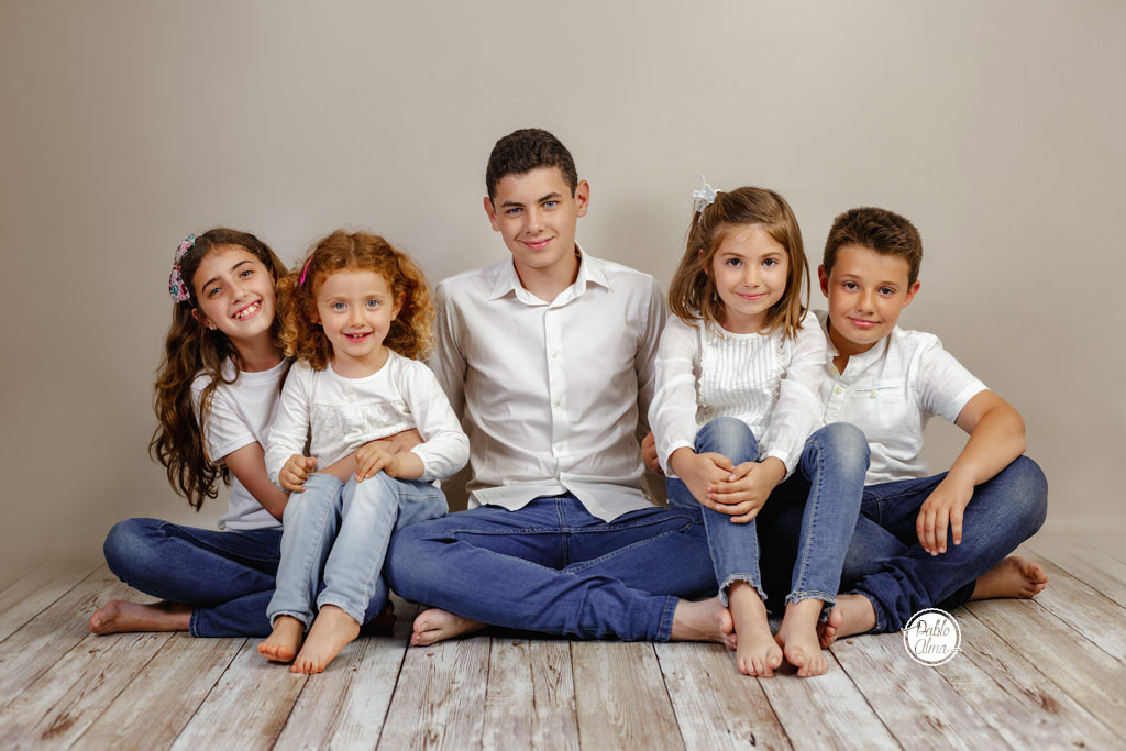 Foto de niños en estudio