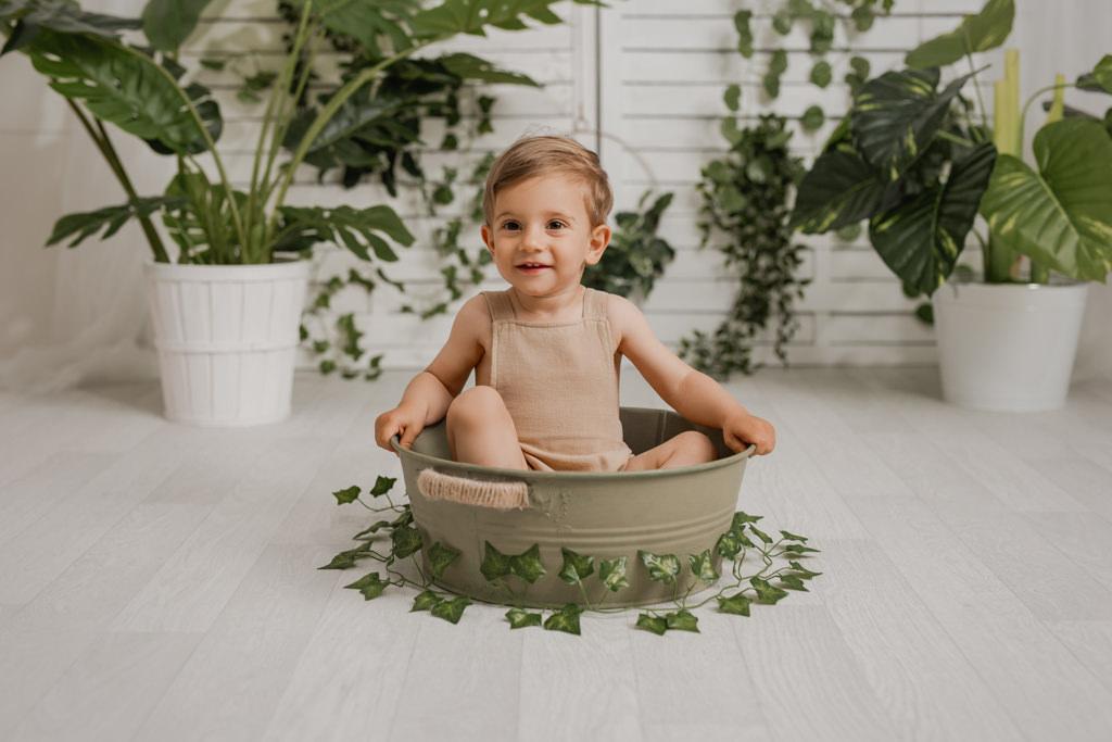 Foto de Bebé de 6 meses sonriendo